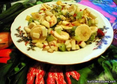 Салат из яблок и бананов рецепт